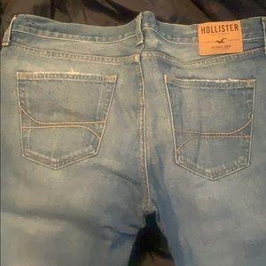 Men's Hollister W 38 x L 36 pre washed jeans